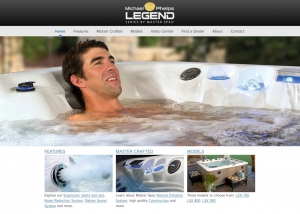 MP Legend Series Hot Tubs. Website Design by John Stanowski.