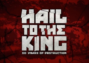 "Frame from ""Hail to the King"" documentary opening title sequence."